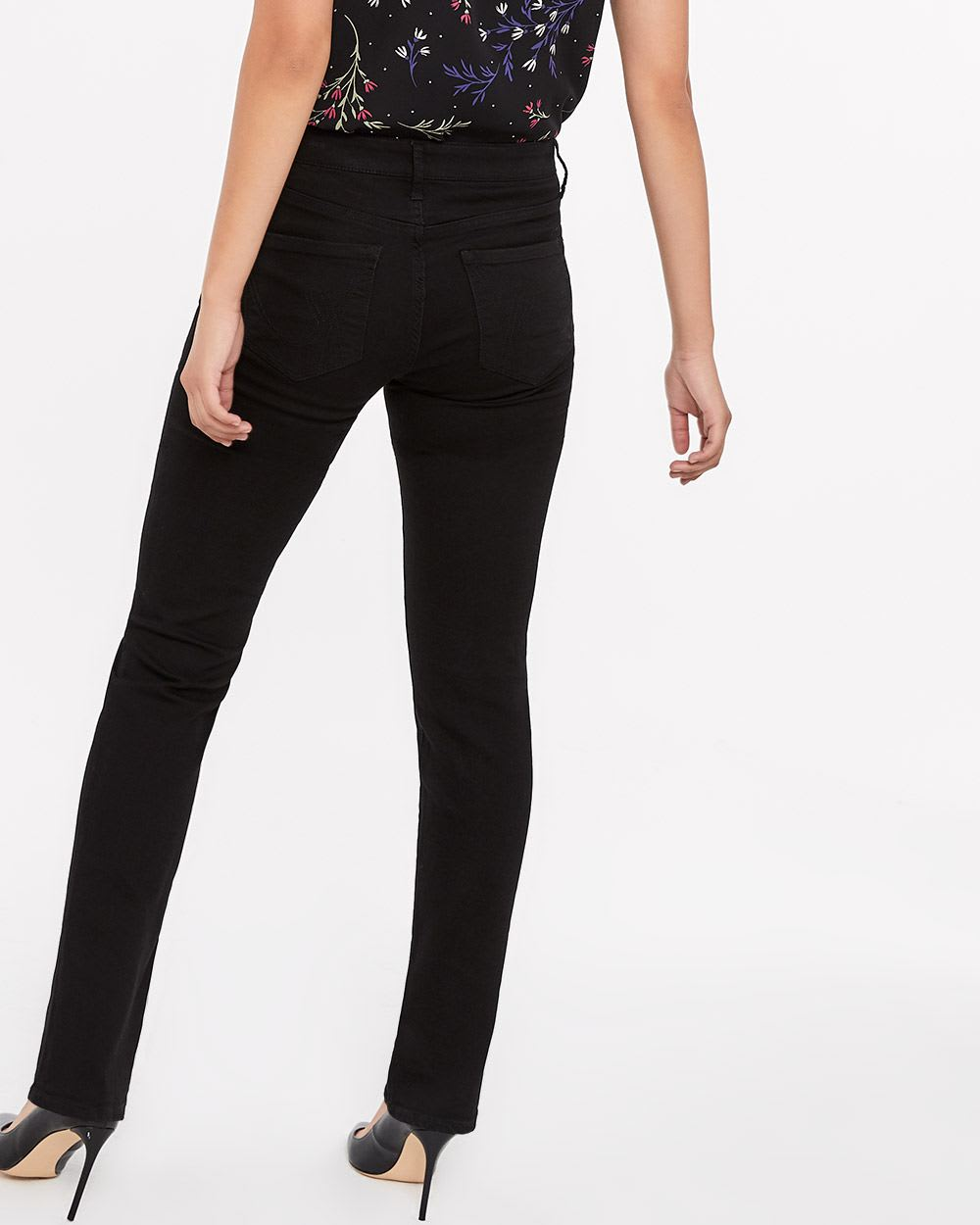 The Insider Black Straight Leg Jeans