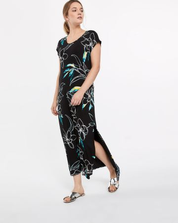Petite Printed Maxi Dress
