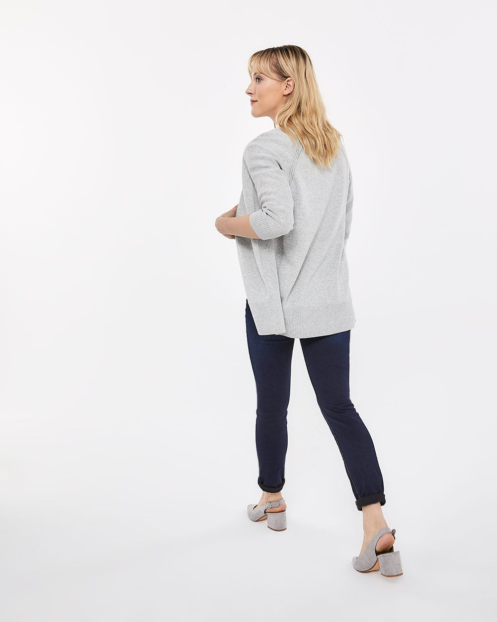 Cotton Open Cardigan - Petite