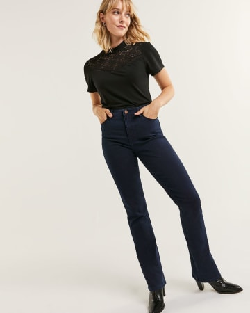 High Rise Bootcut Jeans The Signature Soft