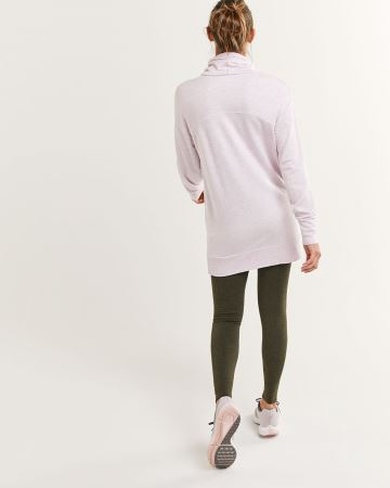 Long Sleeve Cowl Neck Fleece Tunic