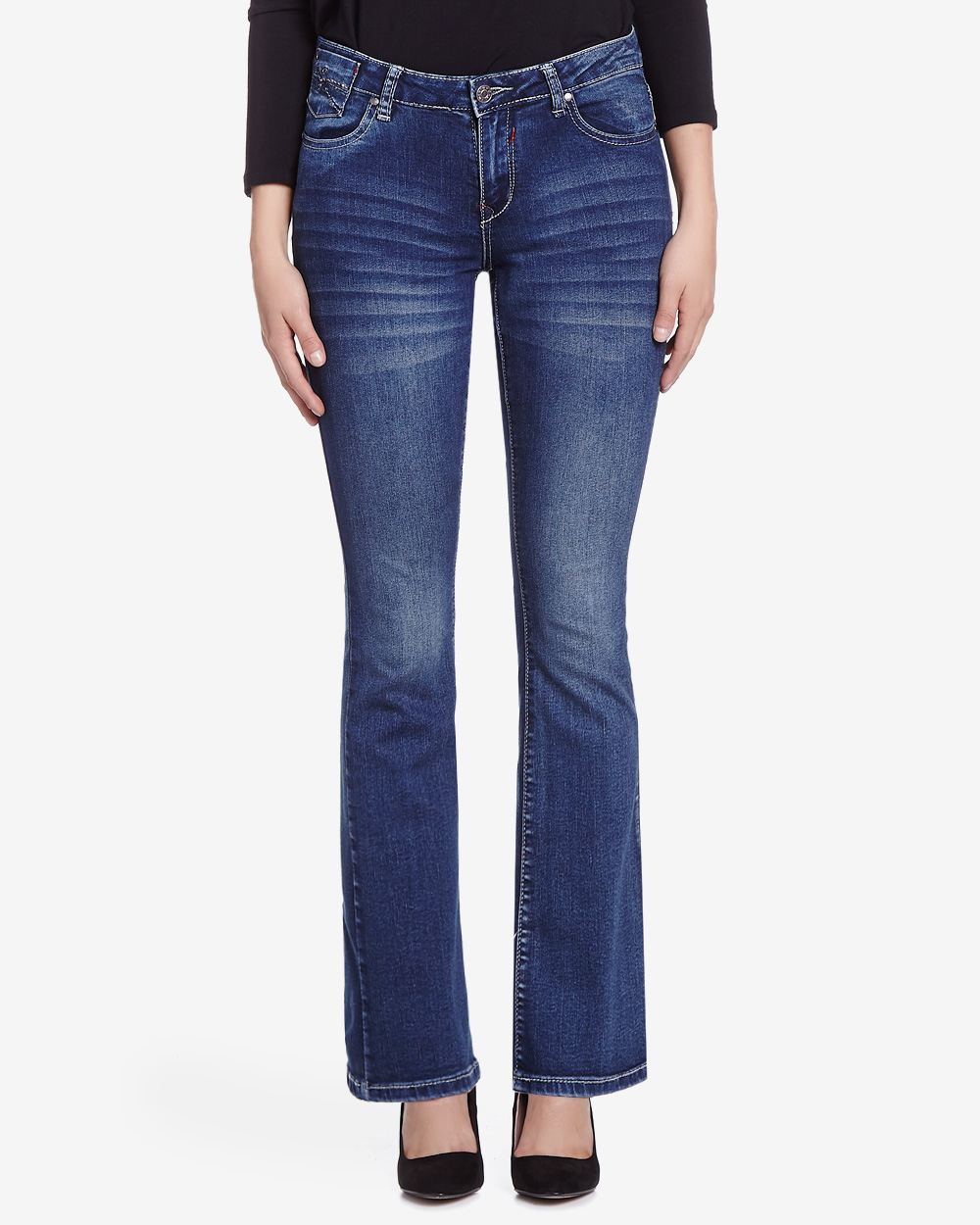 Petite Only Denim Slight Boot Cut Jeans | Petites