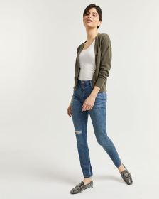 2-Button High Rise Skinny Jeans - Tall