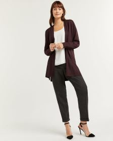Open Cardigan with Balloon Sleeves - Petite