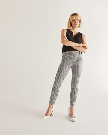 The Iconic Gingham-Printed Ankle Pants - Tall
