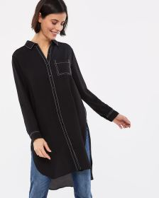Long Sleeve Tunic with Contrasting Seams