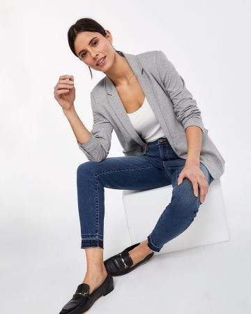 Released-Hem Skinny Jeans