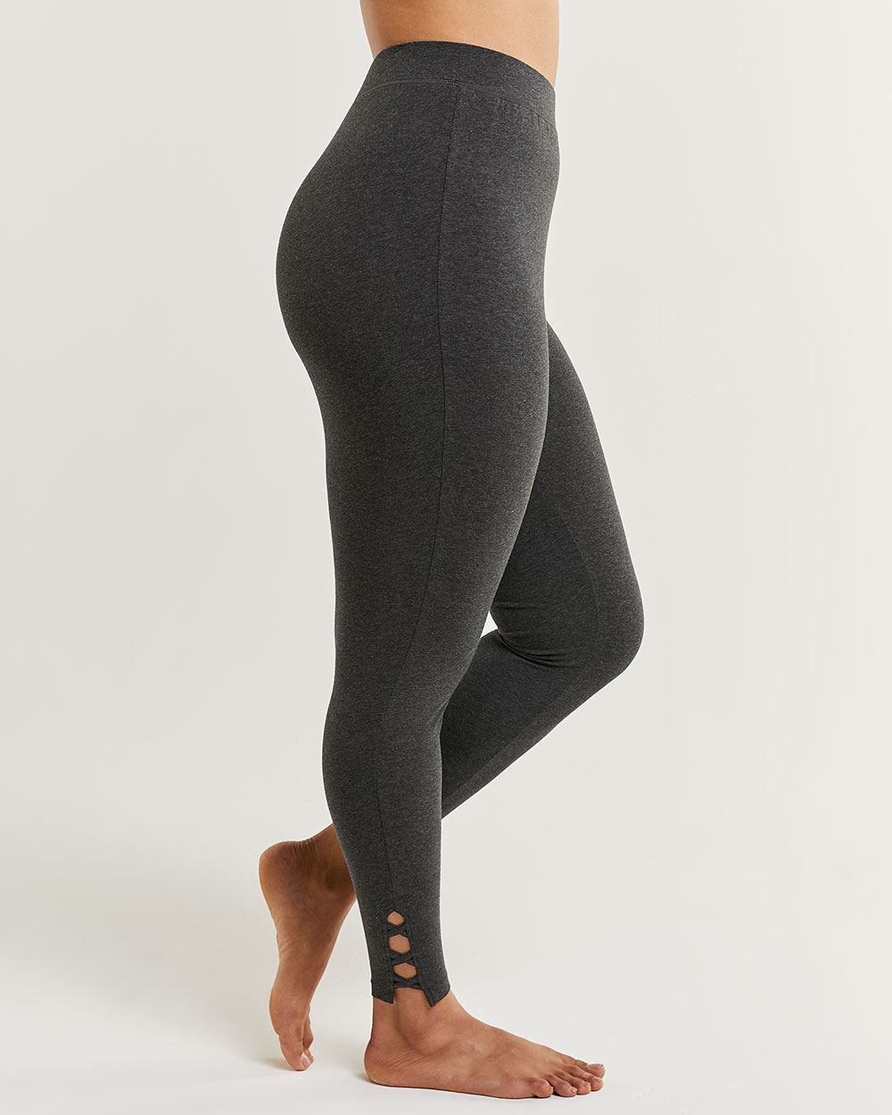 Cotton Blend Ultimate Comfort Lace-Up Leggings