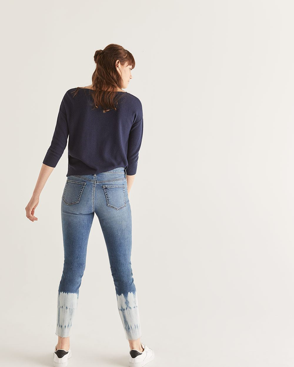 Dip Dye Skinny Ankle Jeans - Tall