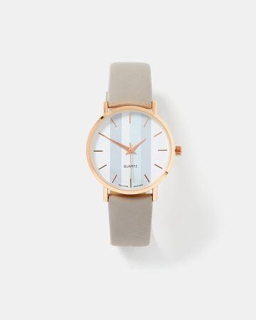 Montre or et bracelet gris