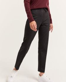 Plaid Jogger Pull On Pants - Petite