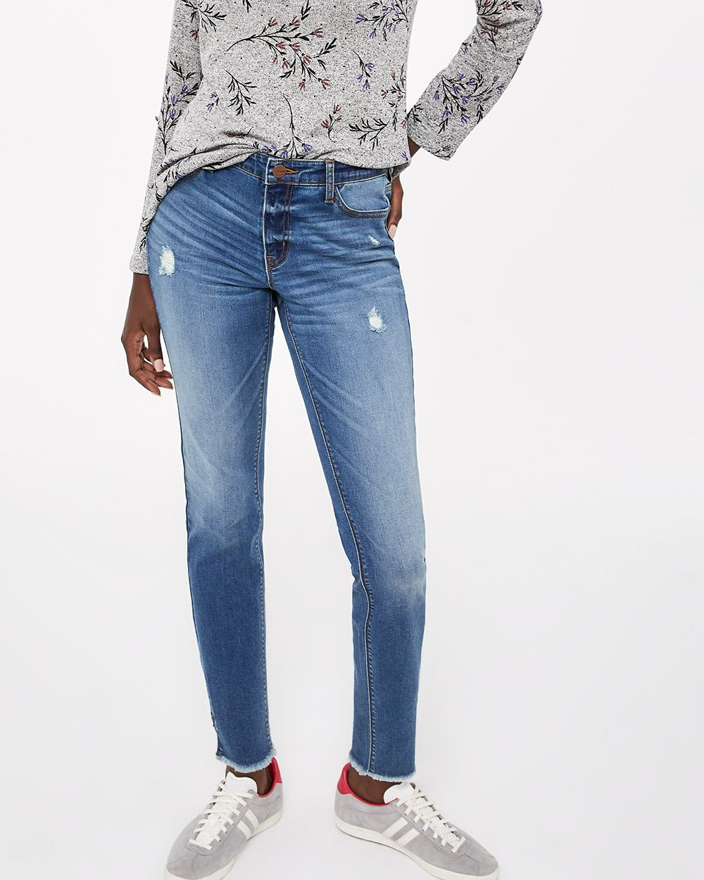 jeans skinny d lav moyen avec fermeture clair r gulier reitmans. Black Bedroom Furniture Sets. Home Design Ideas