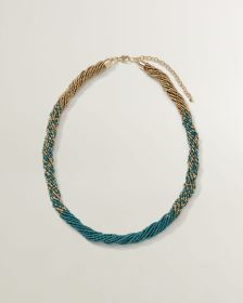 Dual Colour Seed Bead Necklace