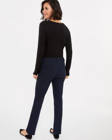 The Petite Iconic Straight Leg 2-tone Jacquard Pattern Pants