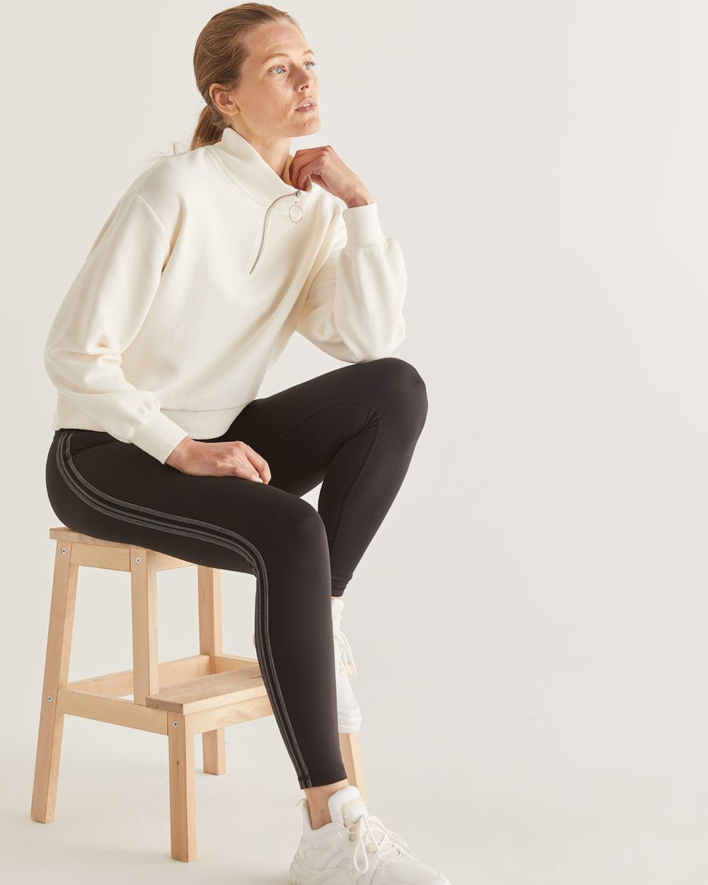 Hyba Stand-Up Collar Sweater