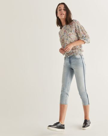 The Insider Cropped Skinny Jeans with Side Band - Petite