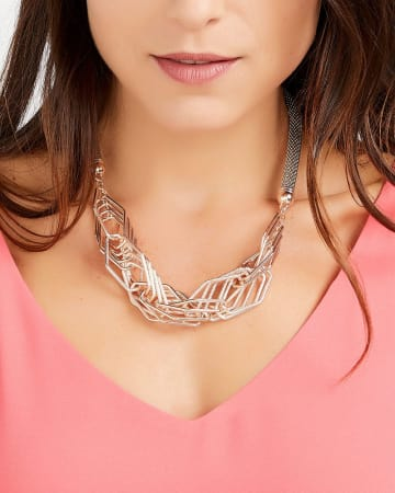 Mesh Statement Necklace
