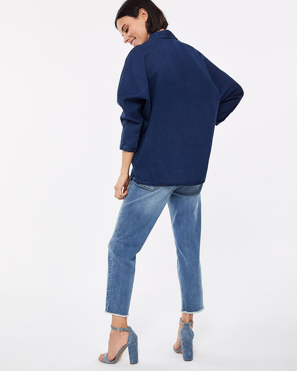 Loose Jeans Blouse