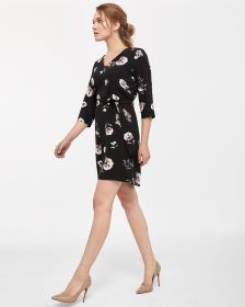 3/4 Sleeve Sash Dress