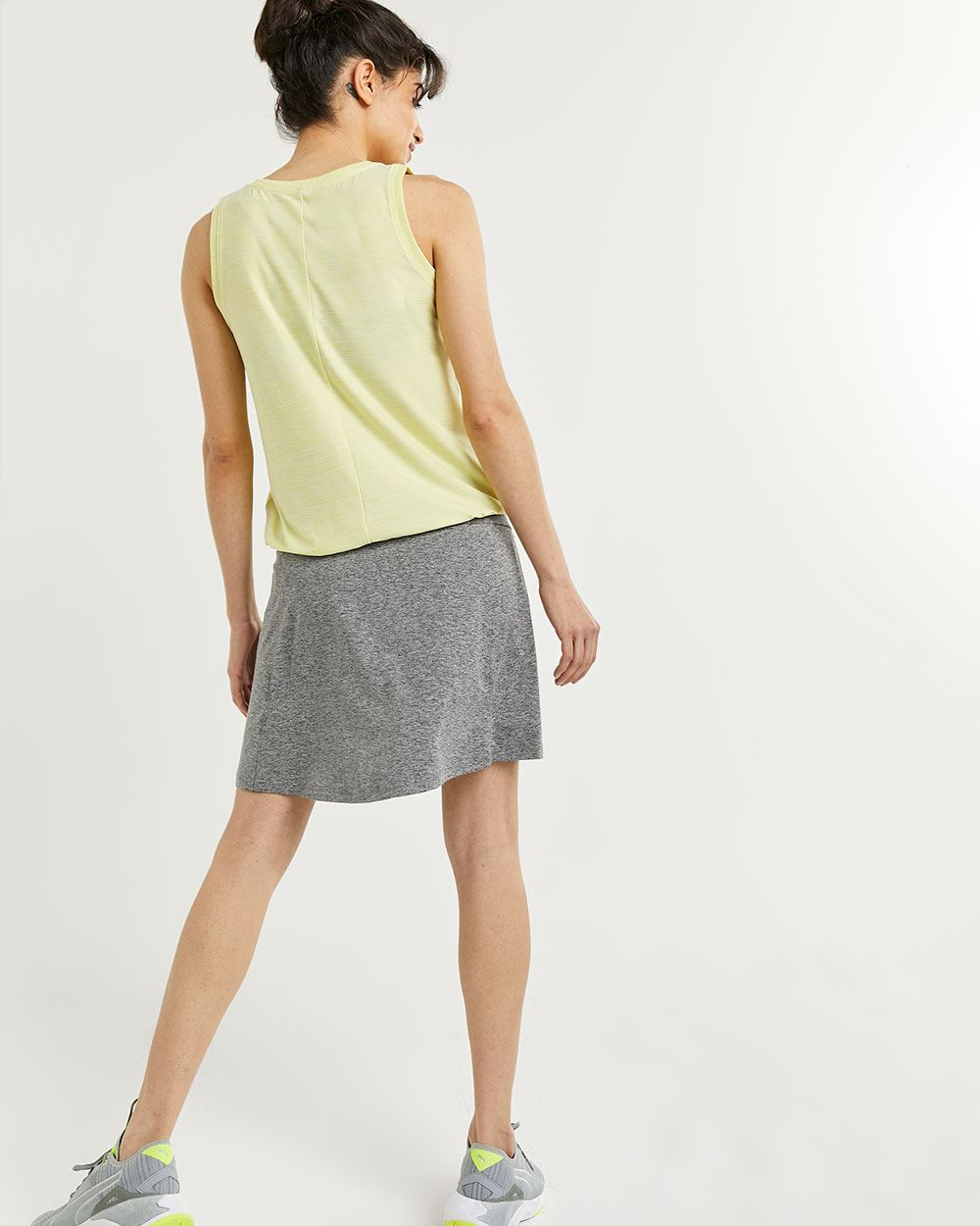V-Neck Tank with Elastic Hem Ultra Soft Hyba