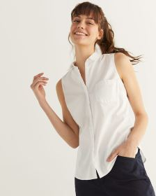 R Essentials Sleeveless Poplin Shirt