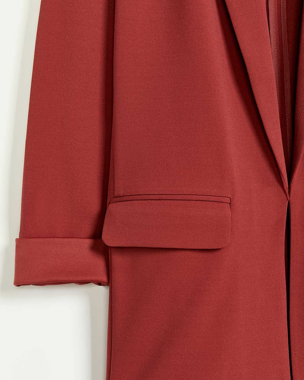 Tailored Collar Crepe Unlined Blazer with Pockets