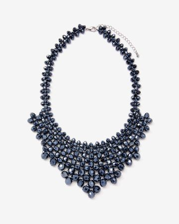 Faceted Bead Collar Necklace
