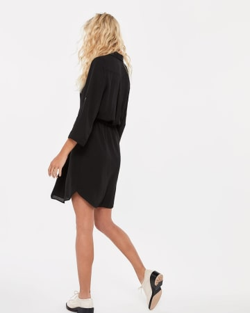 Crepe Shirt Dress