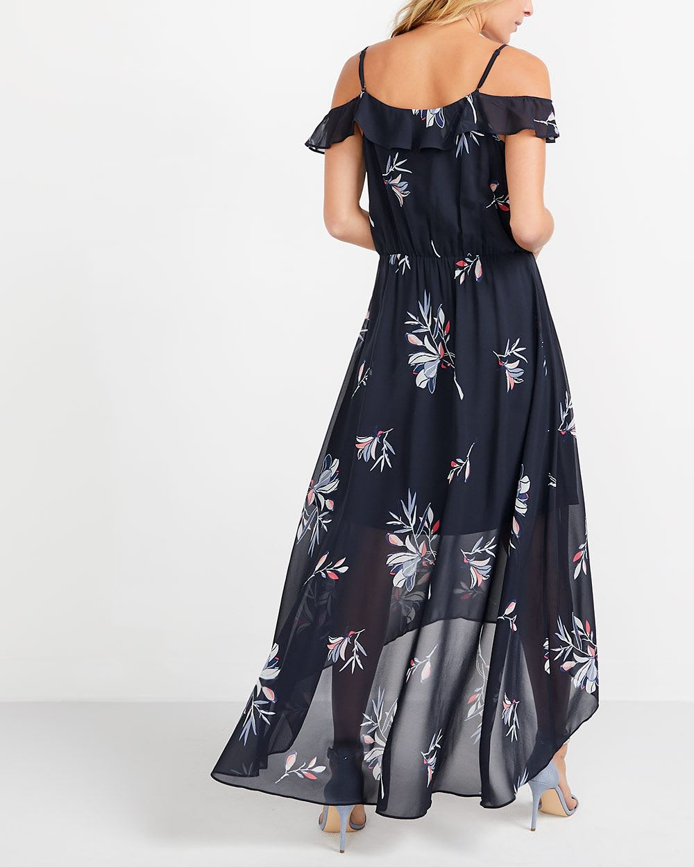 Robe maxi fleurie 2 façons