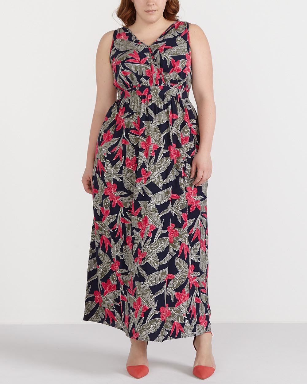 Plus Size Printed Maxi Dress