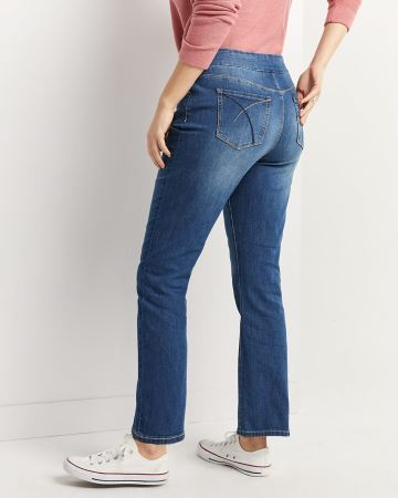 Straight Pull On Jeans The Original Comfort