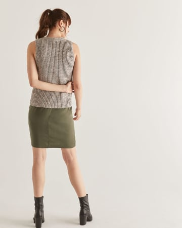 Sleeveless Rib Knit Sweater
