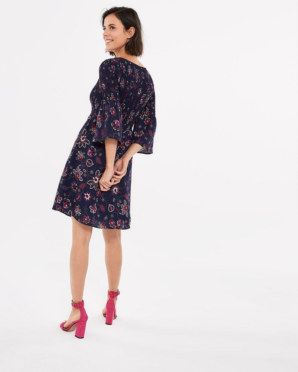 Smocking Printed Dress