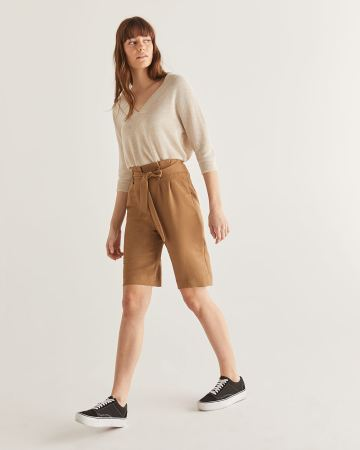 Bermuda à taille plissée Willow & Thread