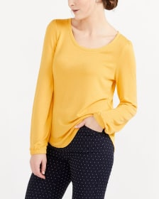 Long Puff Sleeve Top