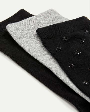 3-Pack Dots & Solid Socks
