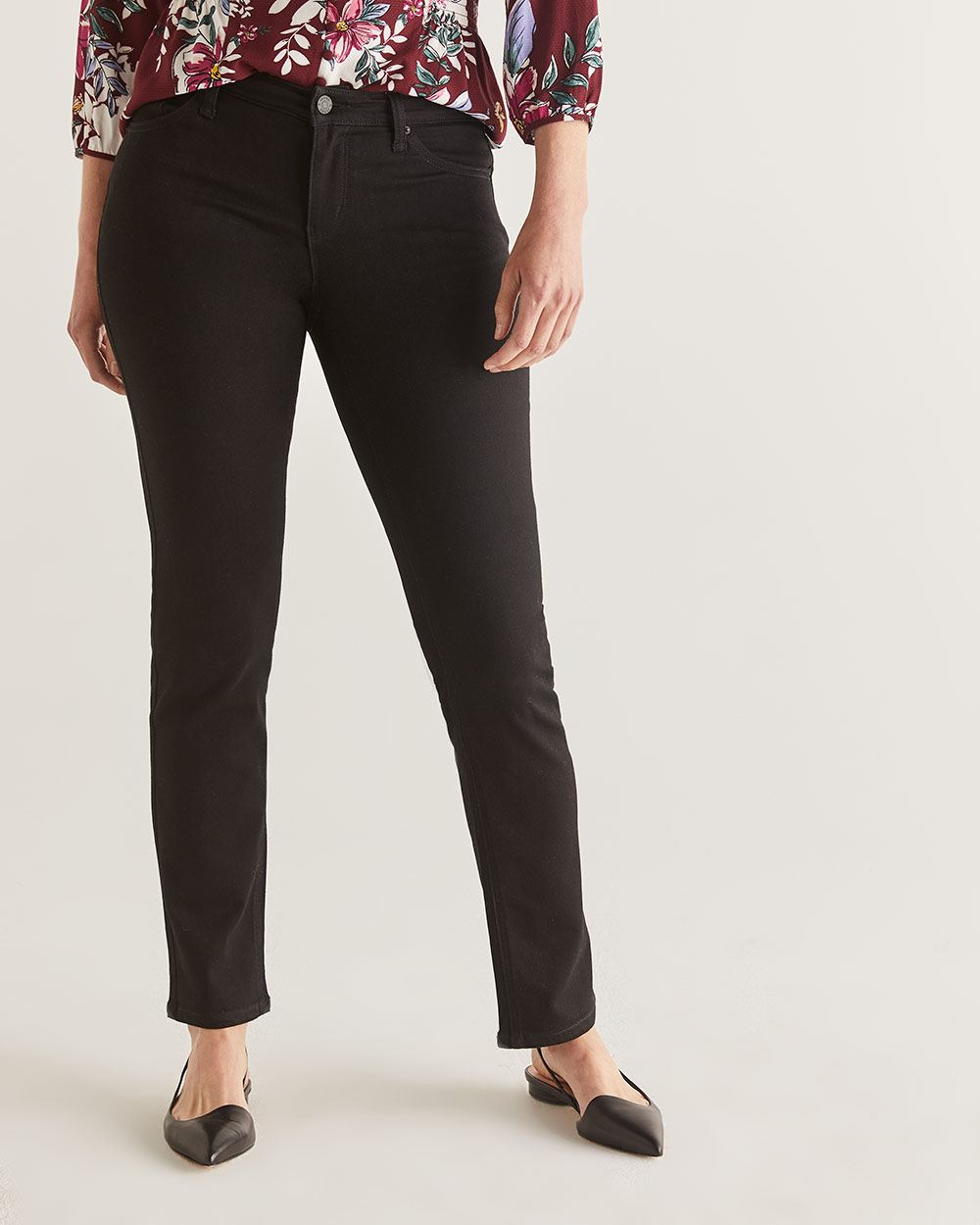 The Insider Black Straight Leg Jeans - Tall