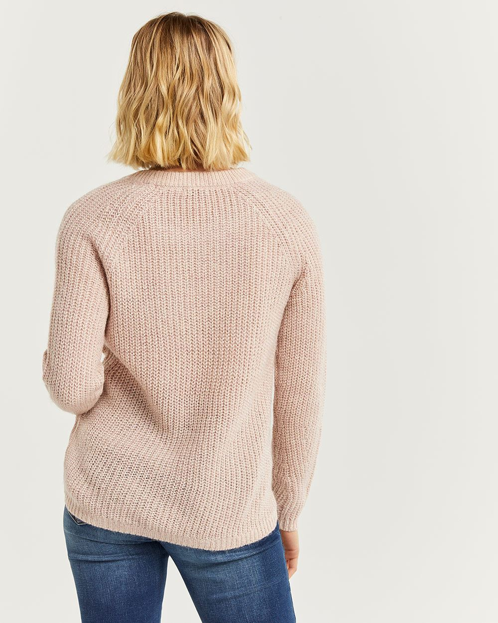 Wavy Stitch Crew Neck Sweater