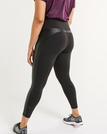Ankle Leggings with Shiny Inserts Hyba