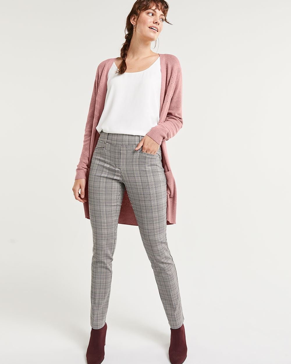 Straight Glen Plaid Pull On Pants The Iconic