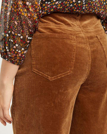 Corduroy Wide Leg High Waist Pants