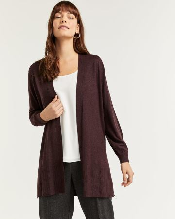 Open Cardigan with Balloon Sleeves