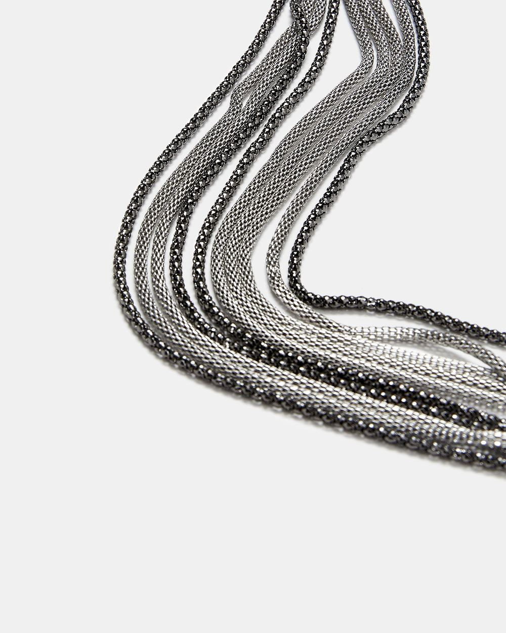 Multi Mesh Chains Necklace