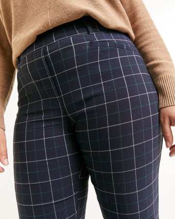 Straight Plaid Pants The Iconic