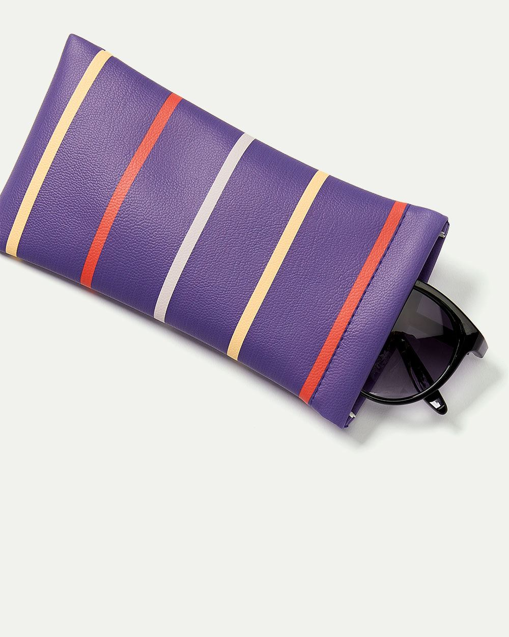 Striped Sunglasses Case