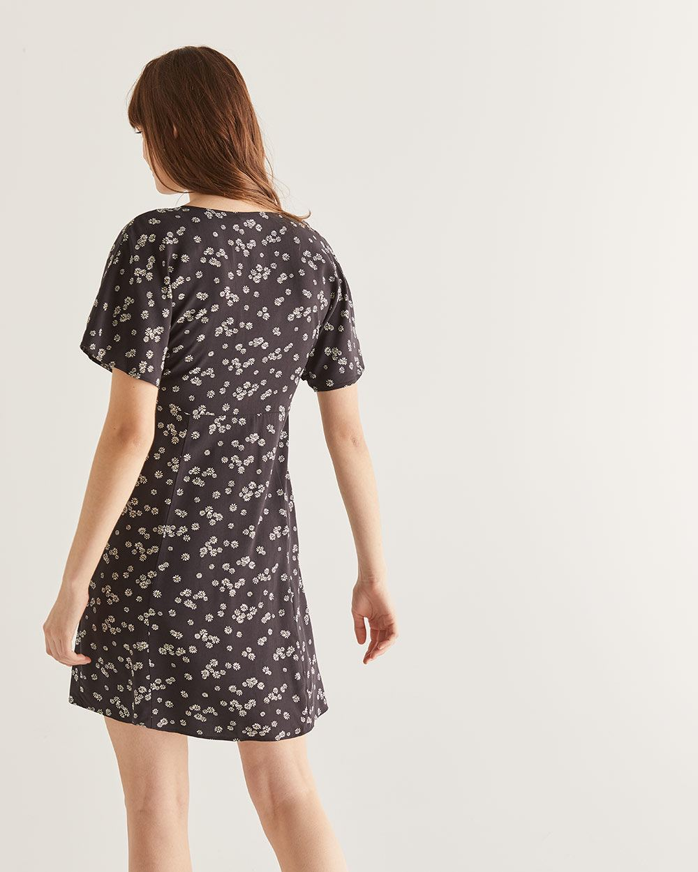 Floral Print Buttoned-Down Dress
