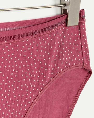 Printed Cotton High Waist Panty with Mesh