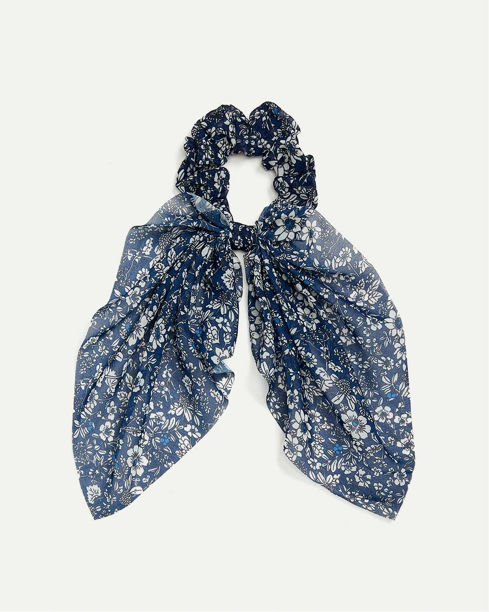 Floral Scrunchie with Scarf
