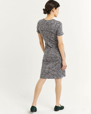 Short Sleeve Crew Neck Dress with Side Tie