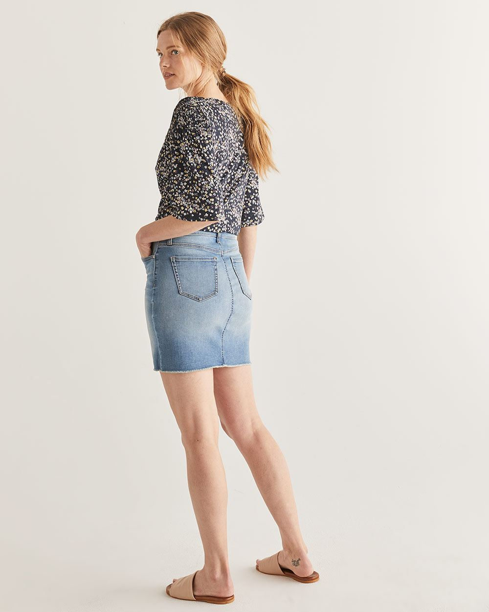 d5c86c3e99 Deconstructed Denim Skirt | Regular | Reitmans